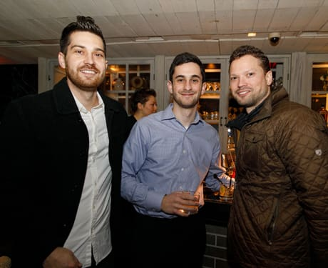 Co-workers came out to support one of Pitch Distilled's three finalists.