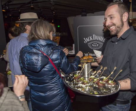 Pitch Distilled Denver Guests sampled hot hors d'oeuvres with their hand-crafted Gentleman Jack cocktails.
