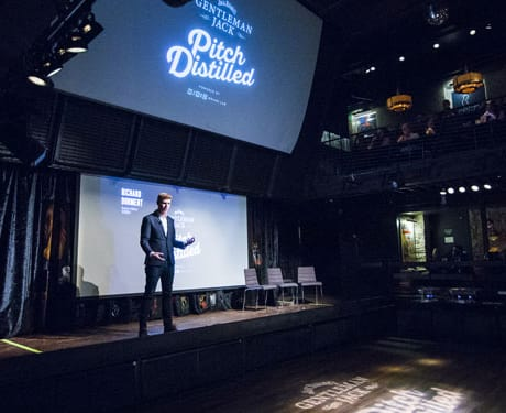 Wired's Rich Doment took the stage to kick off the program and pitch presentations.