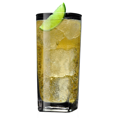 Tennessee Honey and Ginger Beer Cocktail served with lime wedge