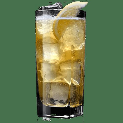 Spiced Apple Jack Cocktail served with lemon wedge