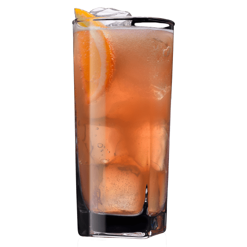 Unrequited Love Punch Cocktail served with orange slice