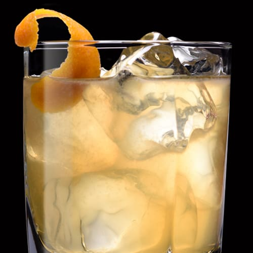 Silent Seven Cocktail served with orange peel