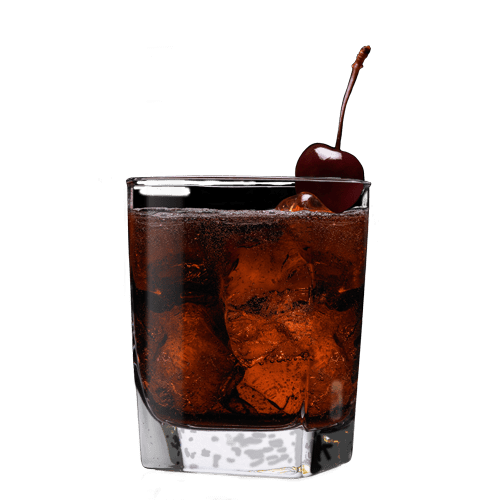 Jack in Black Cocktail served with cherry
