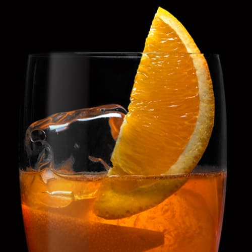 Tennessee Rye Old Fashioned Cocktail served with orange slice