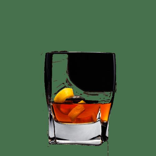 Single Barrel Rye Sazerac Cocktail served with lemon peel