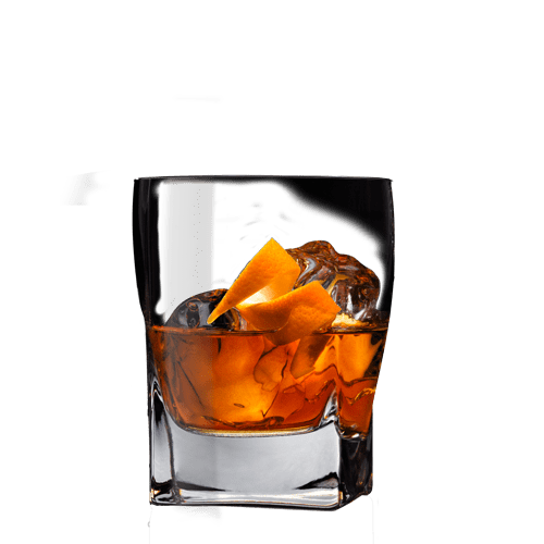 Single Barrel Old Fashioned Cocktail served with orange peel