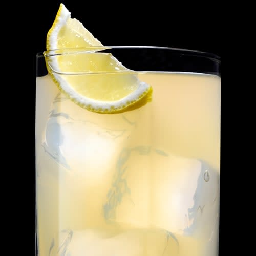 Tennessee Honey and Lemonade Cocktail served with lemon wedge