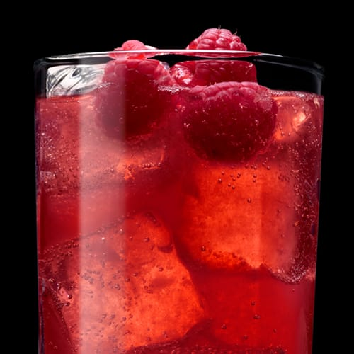 Tennessee Berry Mule Cocktail served with raspberries
