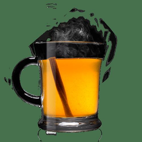 Hot Honey Cider Mocktail Cocktail served with cinnamon stick