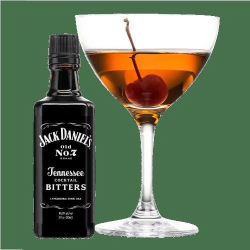 Sinatra Manhattan Cocktail served with cherry