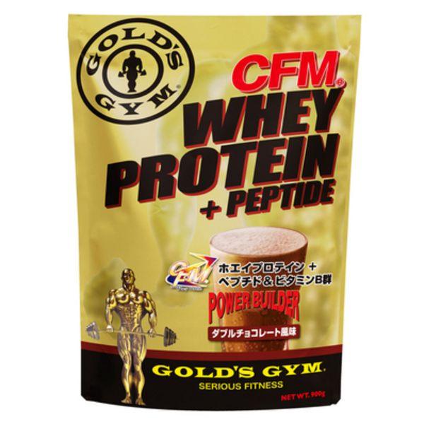 ゴールドジム CFMホエイプロテイン+ホエイペプチド&ビタミンB群 ダブルチョコレートの画像