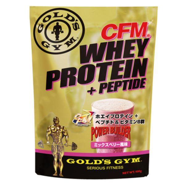 ゴールドジム CFMホエイプロテイン+ホエイペプチド&ビタミンB群 ミックスベリーの画像