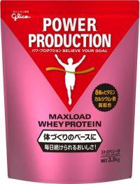 グリコ パワープロダクション マックスロードホエイプロテイン ストロベリー 3.5kgの画像