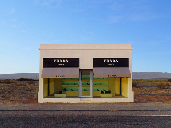 Elmgreen & Dragset, Prada Marfa, 2005, Marfa, Texas