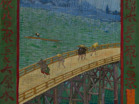 Vincent van Gogh, Brug in de regen (naar Hioshige) (detail), 1887, Van Gogh Museum, Amsterdam