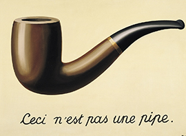Rene Magritte, La trahison des image, 1929, Los Angeles Country Museum of Art, Pictori_klein