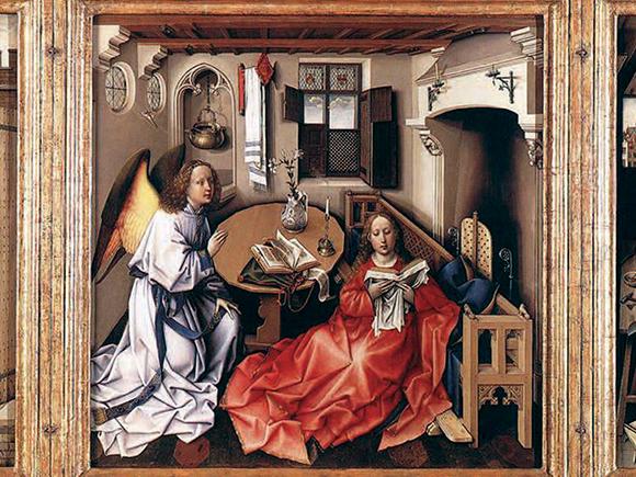 Meester van Flémalle, Mérode-altaarstuk, New York, Metropolitan Museum, ca. 1422-1425_groot