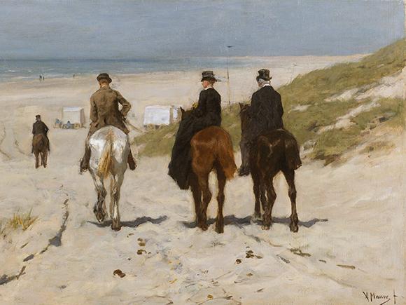 Anton Mauve, Morgenrit langs het strand, 1876, Rijksmuseum, Amsterdam_groot