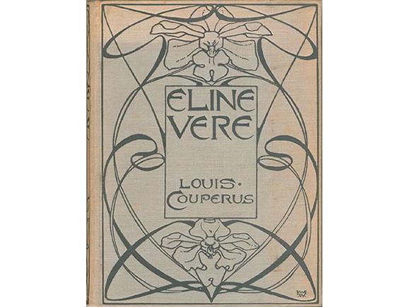 """Bandontwerp L.W.R. Wenckebach 1898, """"Eline Vere"""", uitgever: P.N. van Kampen & Zoon_groot"""