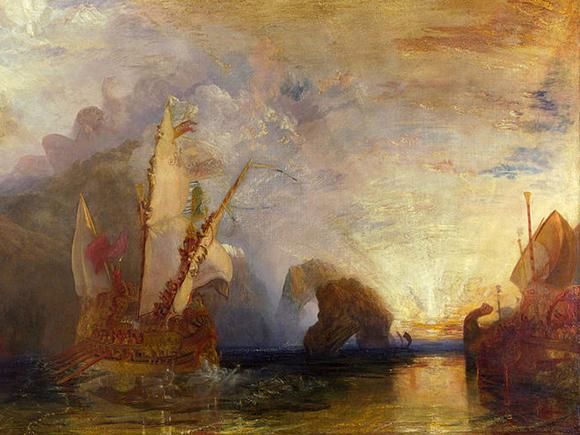 J. M. W. Turner, Odysseus drijft de spot met Polyphemus, 1829, The National Gallery, Londen_groot