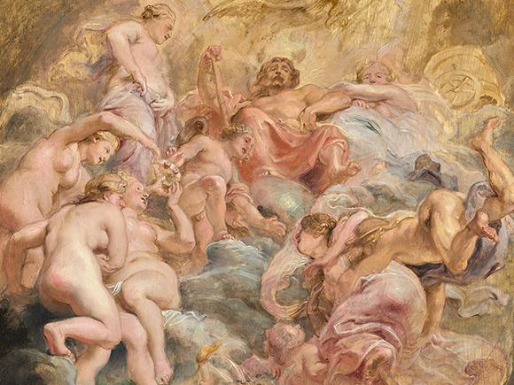 Peter Paul Rubens, De verwelkoming van Psyche op de Olympus, detail, ca. 1625, Liechtenstein, The Princely Collections, Vaduz-Wenen_groot