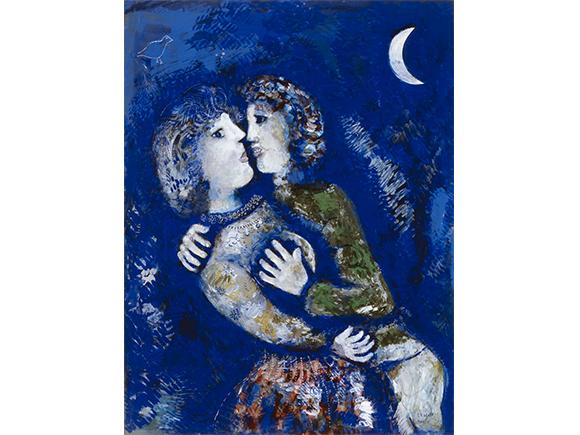 Marc Chagall, Verliefd paar, 1925. c/o Pictoright Amsterdam/Stedelijk Museum Amsterdam_groot