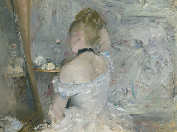 Berthe Morisot, Femme à sa toilette, 1875, The Art Institute of Chicago_groot