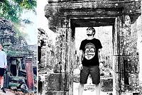 Ed Sheeran leaves the Angkor area...