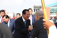 King of Cambodia leaves Cambodia and...