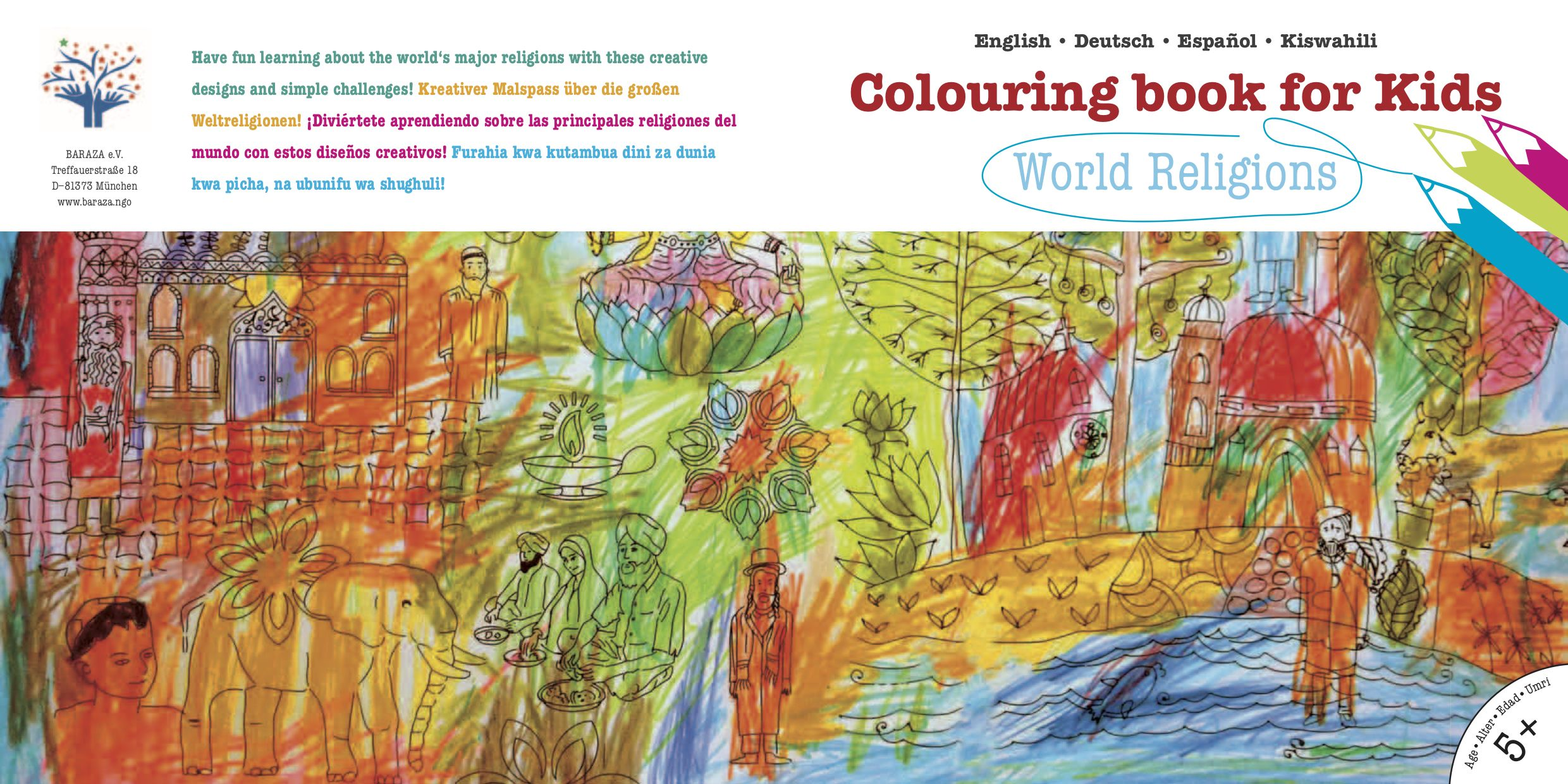 Coloring Book for Kids: World Religions | StartSomeGood