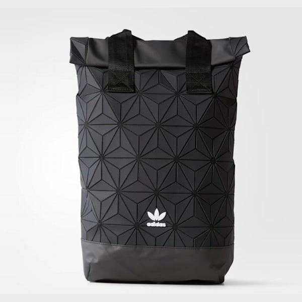 good out x sale retailer sleek Adidas Original 3D Roll Top Backpack, Black
