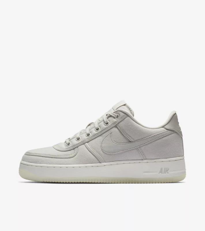 Nike Air Force 1 Low Canvas Classic Men's Shoes, Light Bone Sail, 10.5