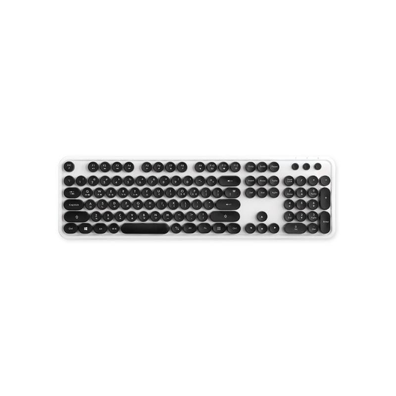 4d3db9a4b92 Actto Retro Wireless Keyboard, White