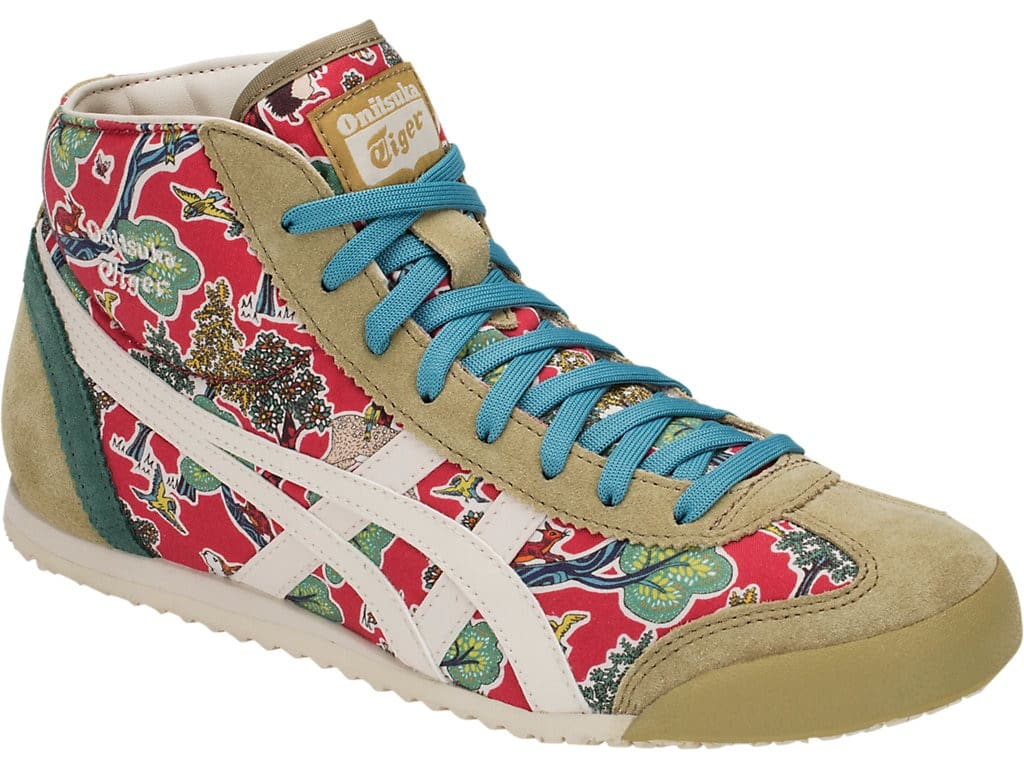 the latest a82d8 e27b9 Onitsuka Tiger Mid Runner Shoes, 24.5, Classic Red x Oatmeal