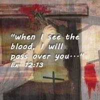 blood on doorpost image