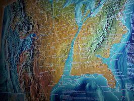 split USA map
