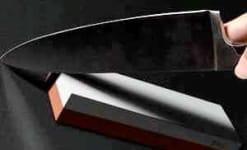 knife and whetstone image