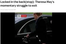 Theresa May - Car door incident