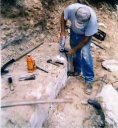 image of ken quarrying stone