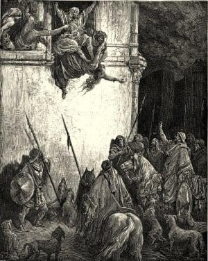 Death of Jezebel by Gustave Doré
