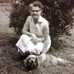 Grandma and dog image
