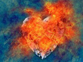 flaming heart image