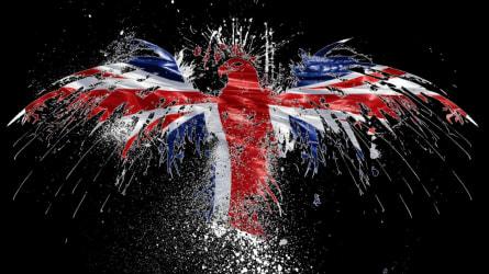 UK flag and eagle illustration
