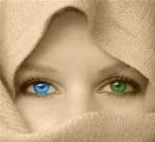 blue green eye image