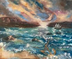 anchor and ship image