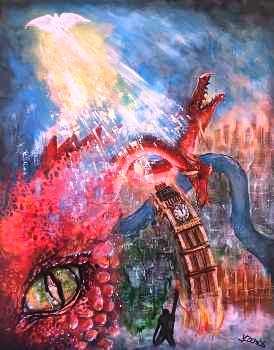 Three Dragons over Big Ben