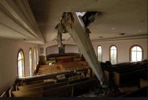 fallen steeple image
