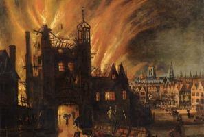 Church fire image