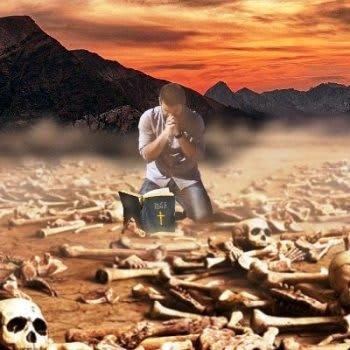 Dry Bones image - author unknown